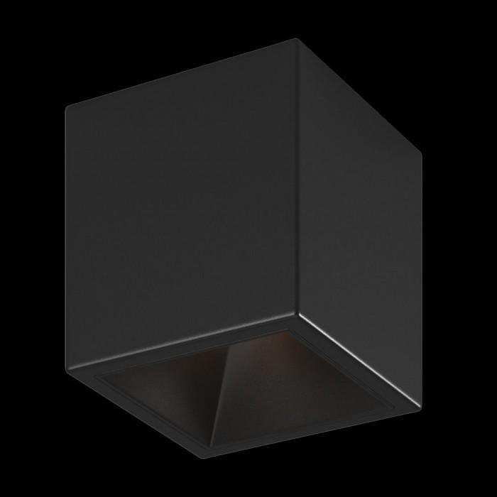 2Светильник светодиодный потолочный накладной, серия DL-SPL, черный, 18Вт, IP20, Теплый белый (3000К)