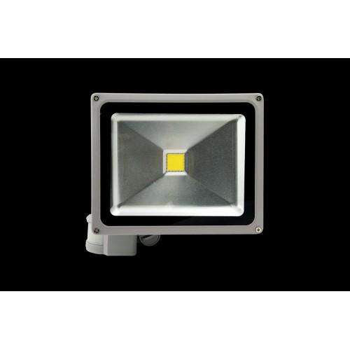 Прожектор светодиодный с датчиком движения 3000К Теплый белыйK FL-COB-30-WW-S