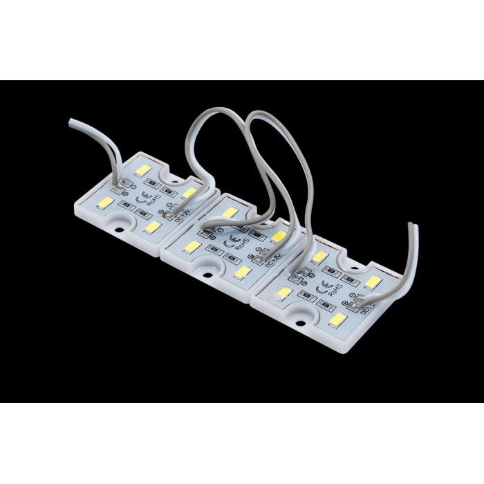 1Модуль светодиодый SWG, 4LED, 0,8Вт, 12В, IP65, Цвет: 6000-6500 К Холодный белый, провод 15см