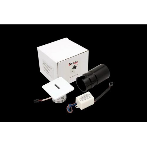 003028 Бра встраиваемое для подсветки лестницы/пола TIK, белый, 3Вт, 3000K, IP20, GW-S712-3-WH-WW DesignLed