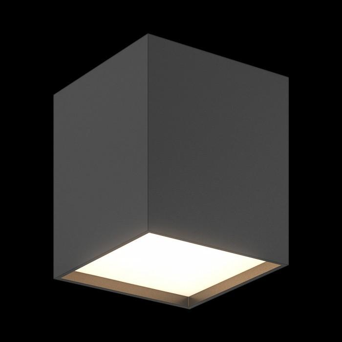 1Светильник светодиодный потолочный накладной, серия GW, черный, 10Вт, IP20, Теплый белый (3000К)