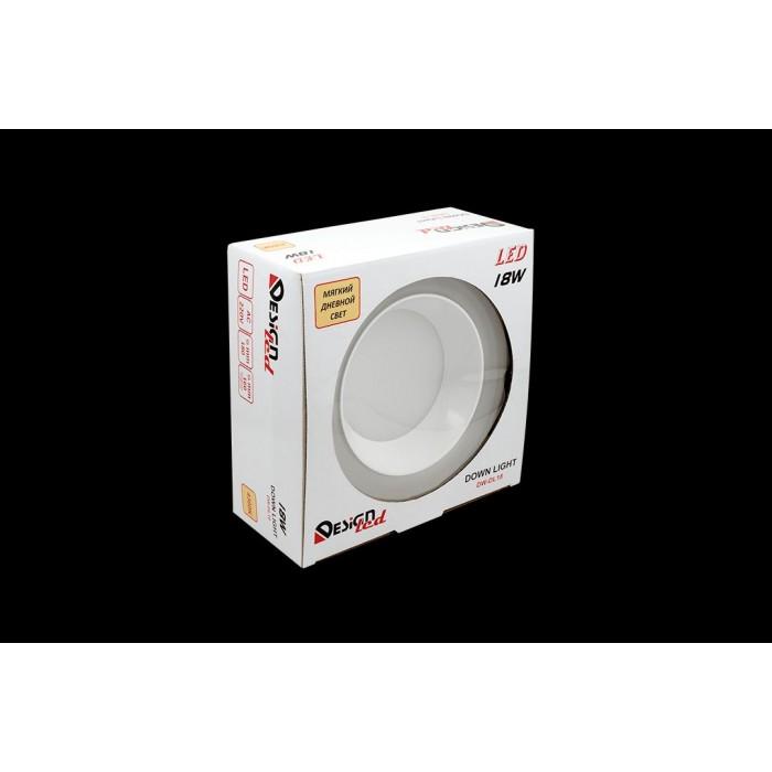 1Светильник светодиодный потолочный встраиваемый, серия DW-DL, белый, 18Вт, IP20, Нейтральный белый (4200К)