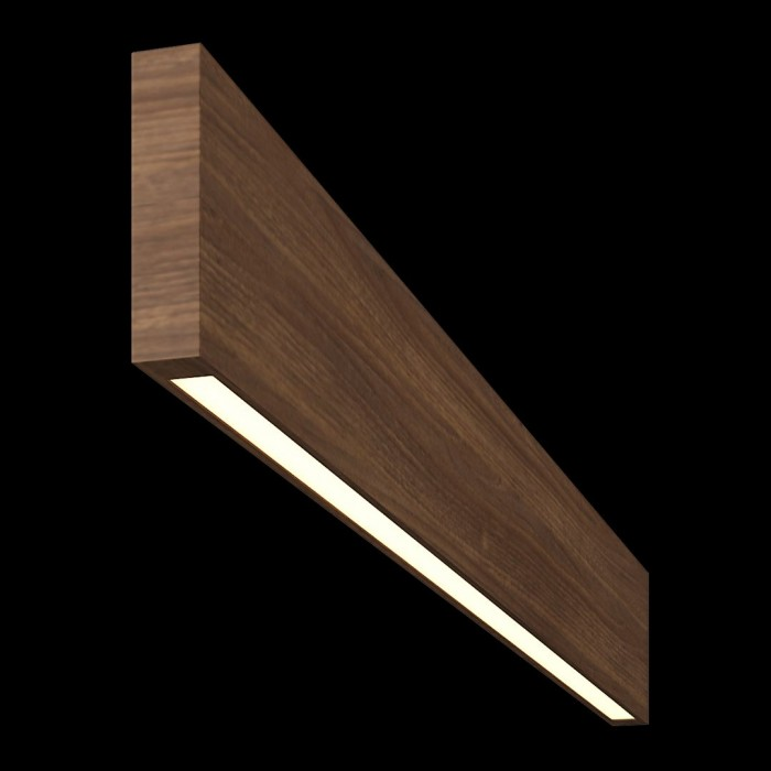 1Светильник из массива (орех амерканский) длина 800мм высота не менее 100мм 3000К, 8Вт
