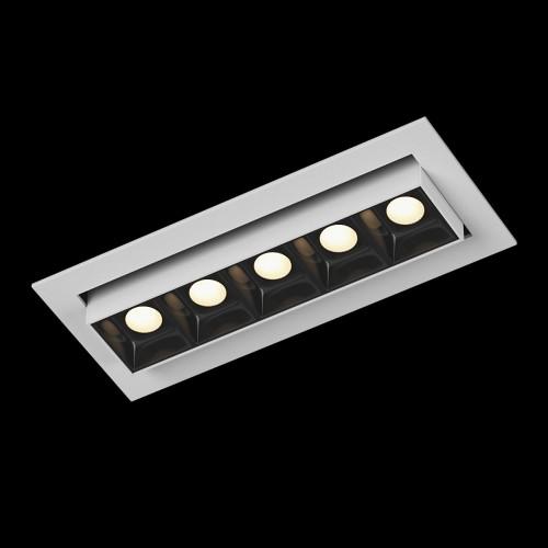 Светильник светодиодный диммируемый потолочный встраиваемый наклонный, серия DL-UM9, белый + черный, 6Вт, IP20, Теплый белый (3000К) DesignLed 002993