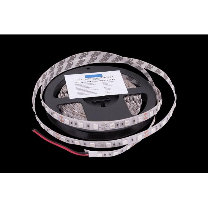 2Лента светодиодная эконом 5050, 60 LED/м, 14,4 Вт/м, 12В, IP20, Цвет: Синий