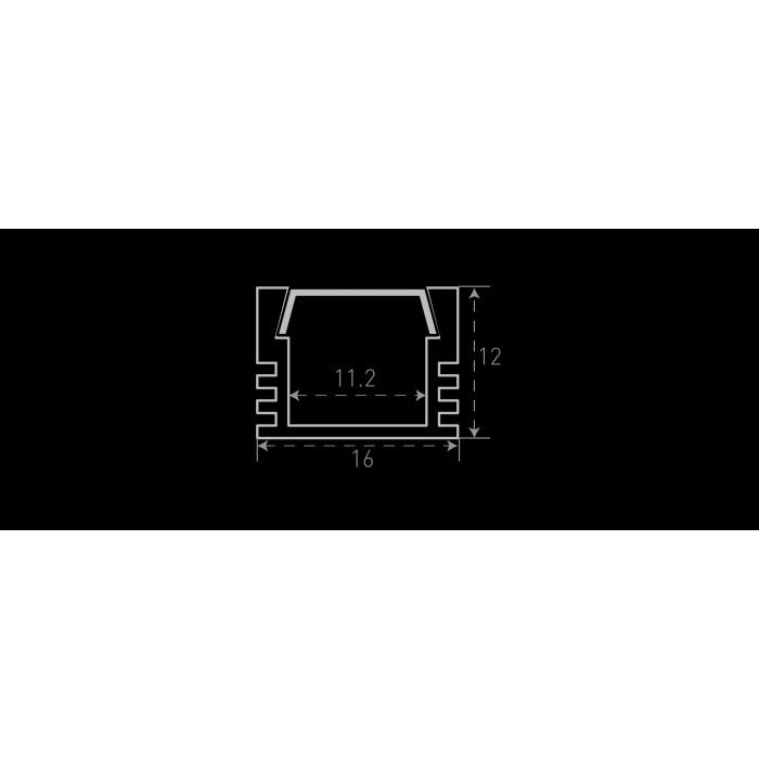 200986 Алюминиевый профиль накладной SF-1612