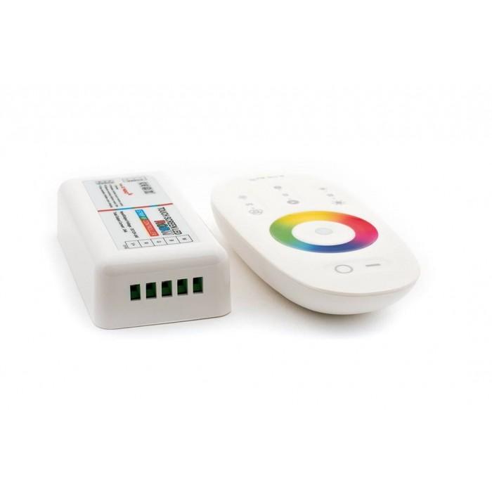 2Контролер RGB+W2.4G сенсорный 4Ch*6A 12/24V Белый, RF-RGBW-S-24A
