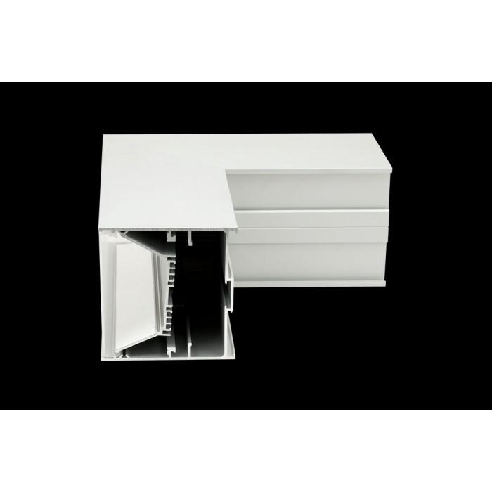 2Угловой L-образный коннектор L9086-L90W для профиля L9086