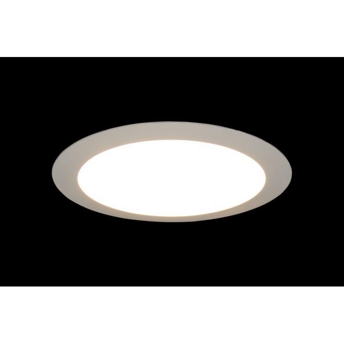 2Светильник светодиодный потолочный встраиваемый PL, Белый, Пластик + алюминий, Нейтральный белый (4000-4500K), 18Вт, IP20