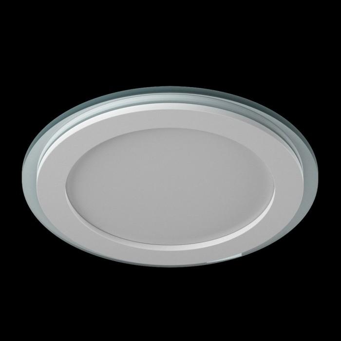 1Светильник светодиодный потолочный встраиваемый P, Белый, Сталь/Стекло, Нейтральный белый (4000-4500K), 18Вт, IP20