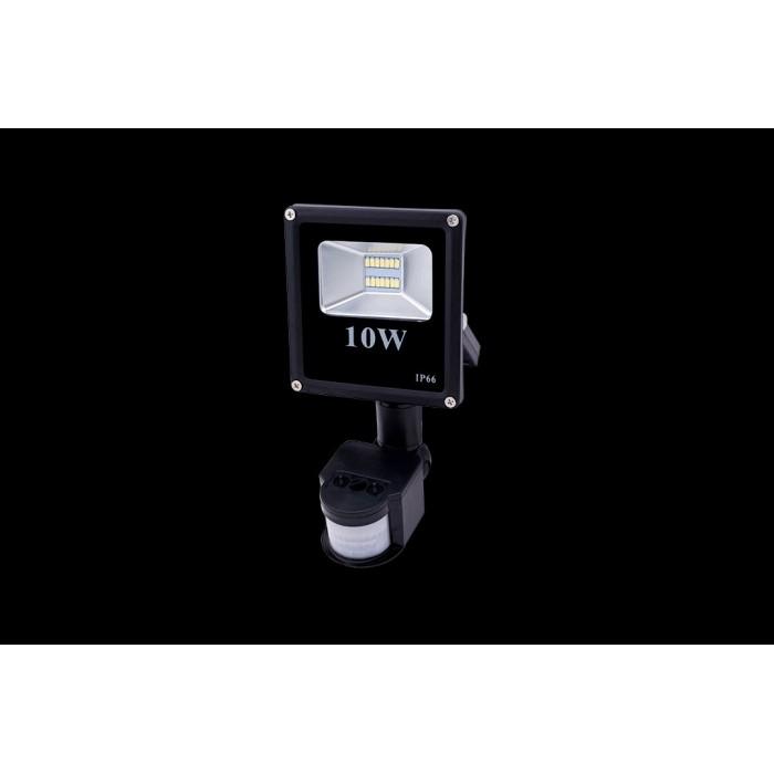 2Прожектор светодиодный с датчиком движения 5630 6500К Холодный белыйK FL-SMD-10-CW-S
