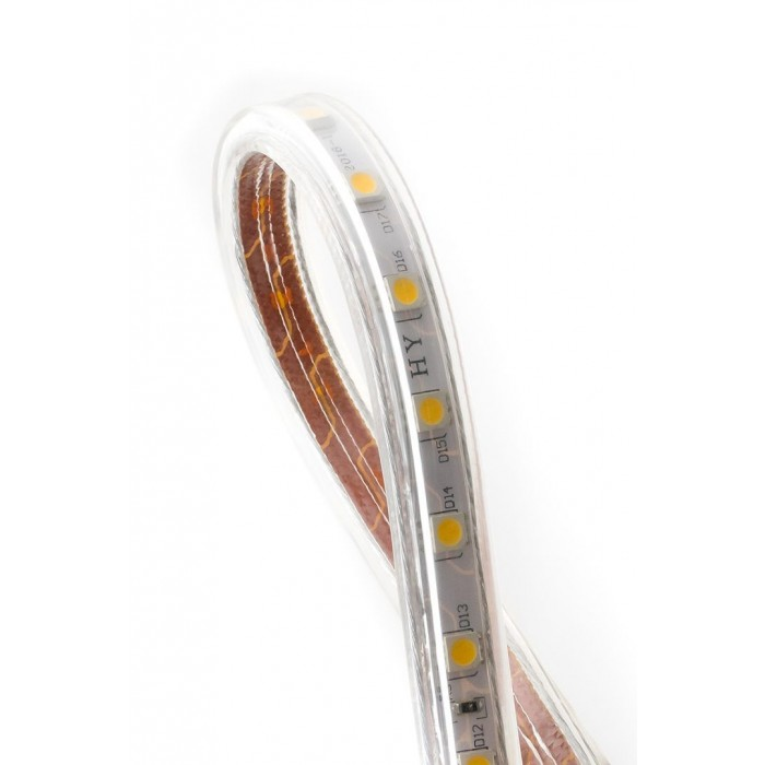 2Лента светодиодная 220, SMD5050, 60LED/м, кат 50м, 14,4 Вт/м, IP68, Теплый белый (2700-3000К Теплый белый)
