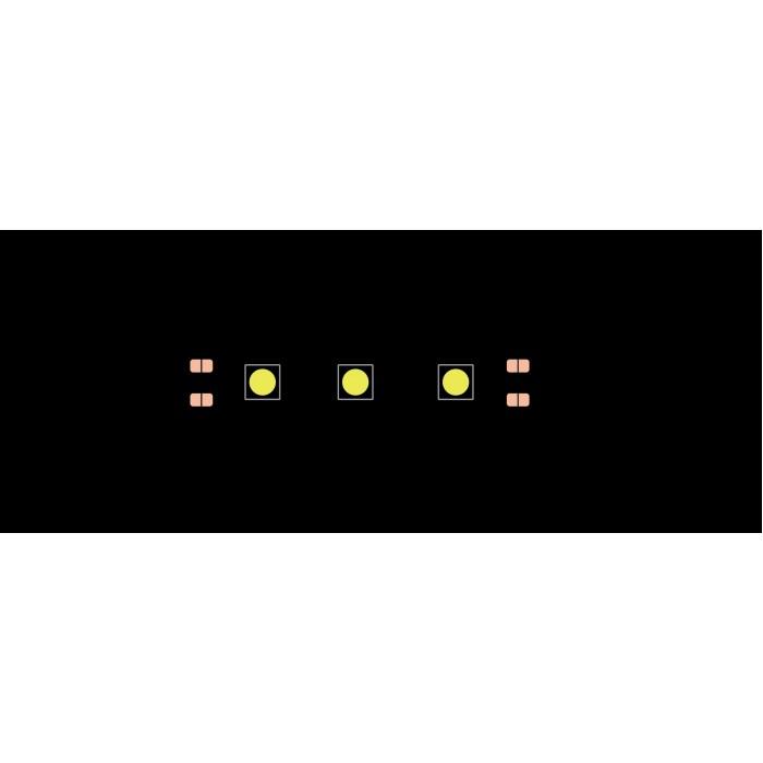 1Лента светодиодная эконом 5050, 60 LED/м, 14,4 Вт/м, 12В, IP20, Цвет: Теплый белый