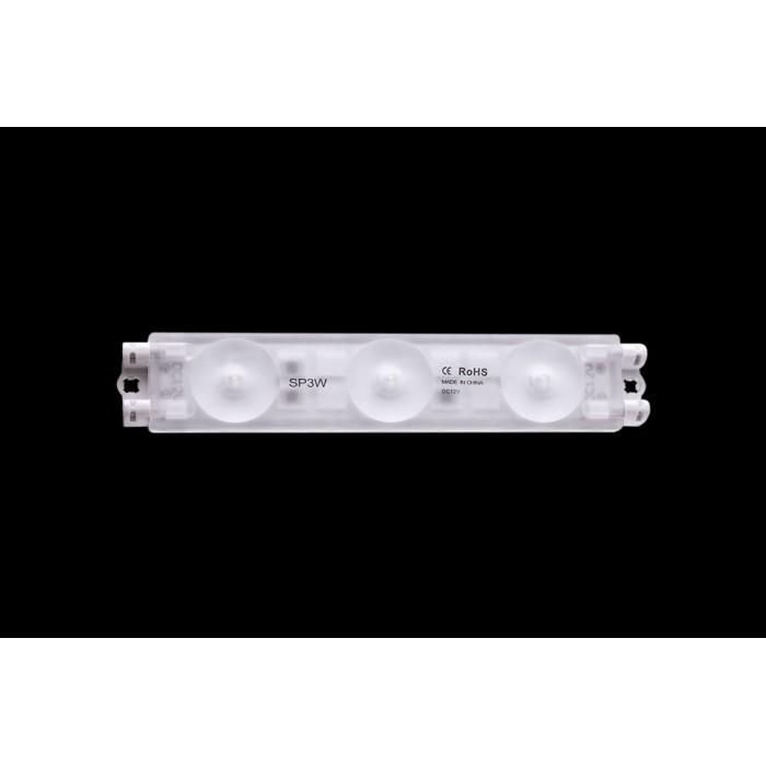 2Модуль светодиодый линзованный SWG, 3LED, 3Вт, 12В, IP66, Цвет: 7500К Ультра холодный белый, провод 9см