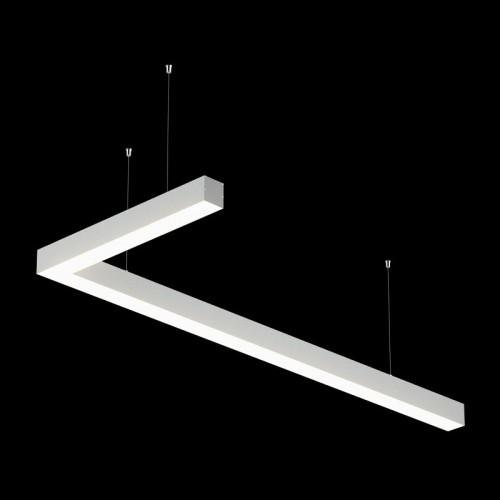 Светильники из профиля L-Type-5050-0903-32-NW: Профиль LS 5050, Лента 4x DSG 2835 WW 280L-V24-IP33, 700LED, 26W/m, LUX, подвесы. Без блока питания.