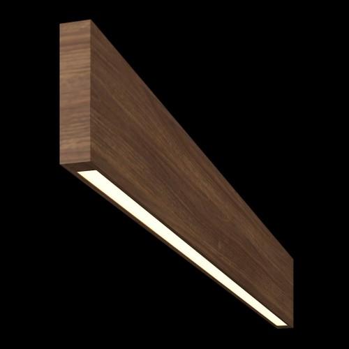 Светильник из массива (орех амерканский) длина 1200мм высота не менее 100мм 3000К, 12Вт