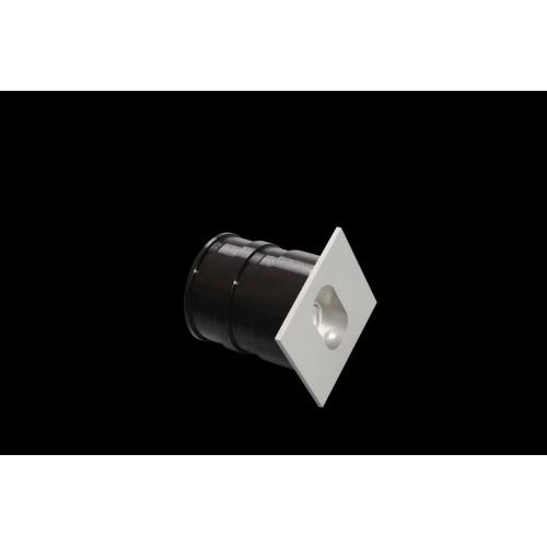 001570 Бра встраиваемое для подсветки лестницы/пола FLOOR S, серебряный, 1Вт, 4500K, IP20, GW-S612-1-SL-NW DesignLed