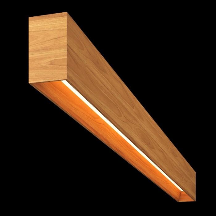 1Светильник из массива (орех пекан) длина 1800мм 3000К, 43,2Вт