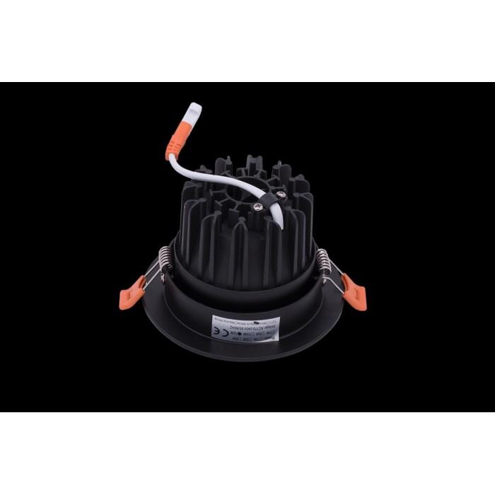 2Светильник светодиодный потолочный встраиваемый наклонный, серия DL-KZ, черный, 12Вт, IP20, Теплый белый (3000К)