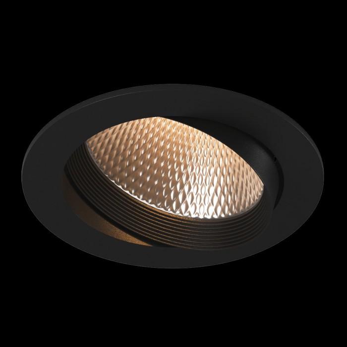 2Светильник светодиодный потолочный встраиваемый наклонный, серия DL-KZ, черный, 18Вт, IP20, Теплый белый (3000К)