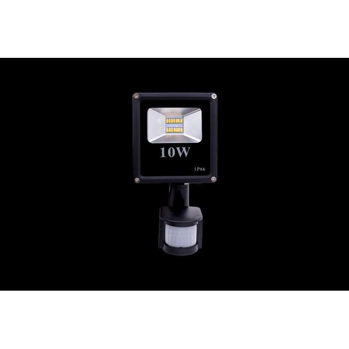 2Прожектор светодиодный с датчиком движения 5630 3000К Теплый белыйK FL-SMD-10-WW-S