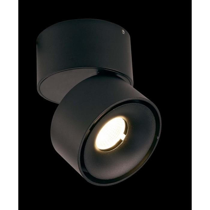 1Светильник светодиодный потолочный накладной поворотный, серия WL, черный, 12Вт, IP20, Теплый белый (3000К)