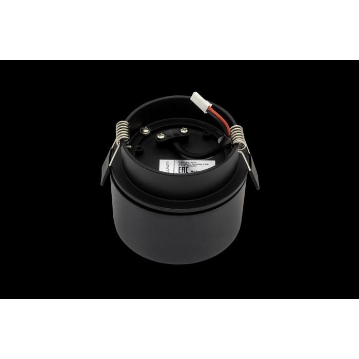 2Светильник светодиодный потолочный встраиваемый наклонно-поворотный, серия LK, Черный, 15Вт, IP20, Теплый белый (3000К)