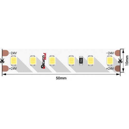 004501 Лента светодиодная LUX, 2835, 120 LED/м, 14,4 Вт/м, 24В, IP33, Нейтральный белый (4000K)