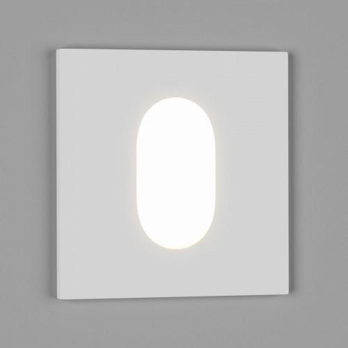 003013 Бра встраиваемое для подсветки лестницы/пола FLOOR S, белый, 1Вт, 4500K, IP20, GW-S612-1-WH-NW DesignLed