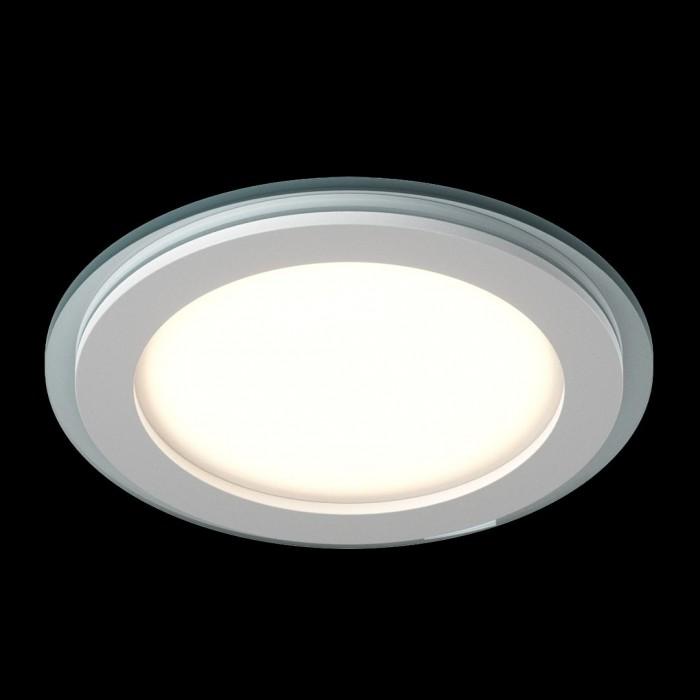 2Светильник светодиодный потолочный встраиваемый P, Белый, Сталь/Стекло, Нейтральный белый (4000-4500K), 18Вт, IP20