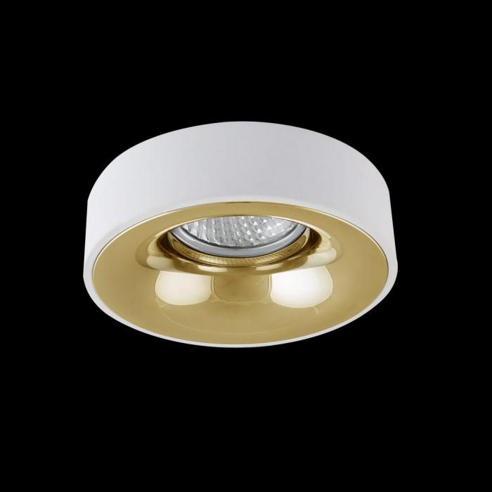 1NC1826-M-W+G Накладная рамка белый+золото MR16