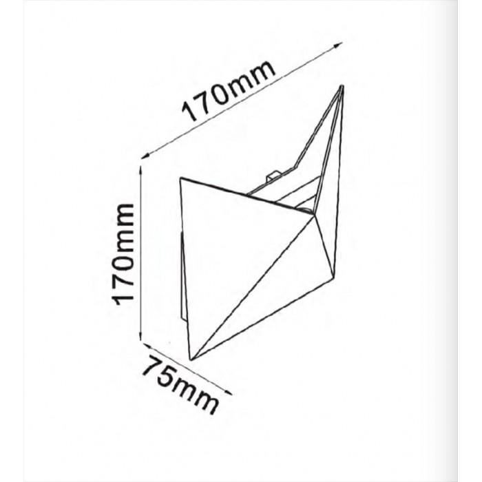 2Бра декоративное TANGO, черный, 7Вт, 4000K, IP54, GW-A816-7-BL-NW