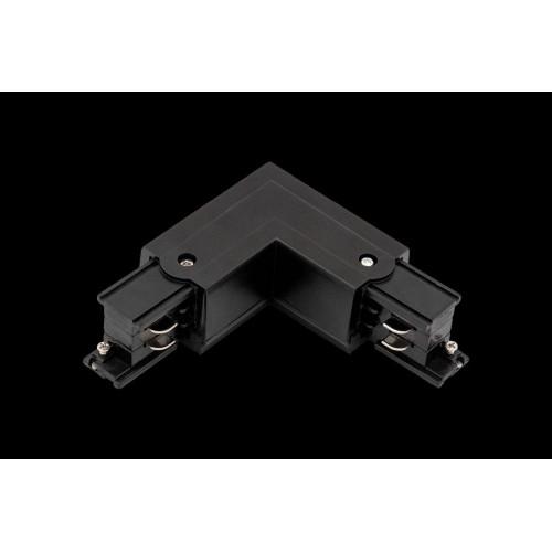 L коннектор для трековых систем, левый, черный
