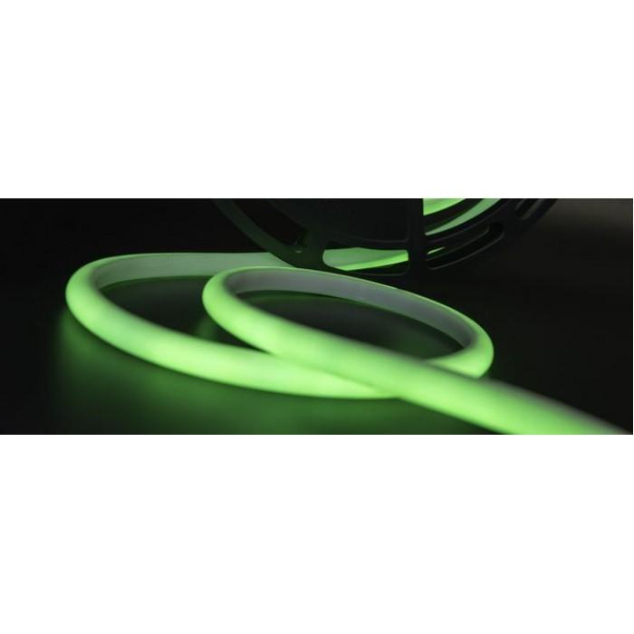 1Термолента светодиодная SMD 2835, 180 LED/м, 12 Вт/м, 24В, IP68, Цвет: Зеленый