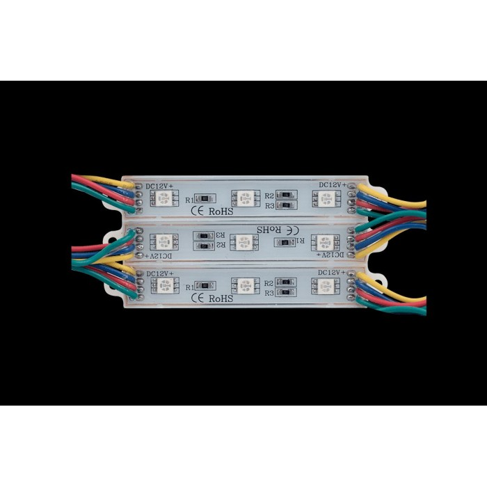 2Модуль светодиодый SWG, 3LED, 0,72Вт, 12В, IP65, Цвет: RGB, провод 15см