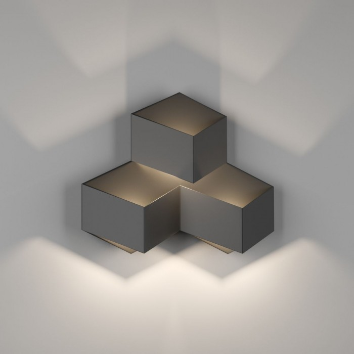 1Бра декоративное PALMIRA, черный, 9Вт, 4000K, IP20, GW-1101-3-9-BL-NW