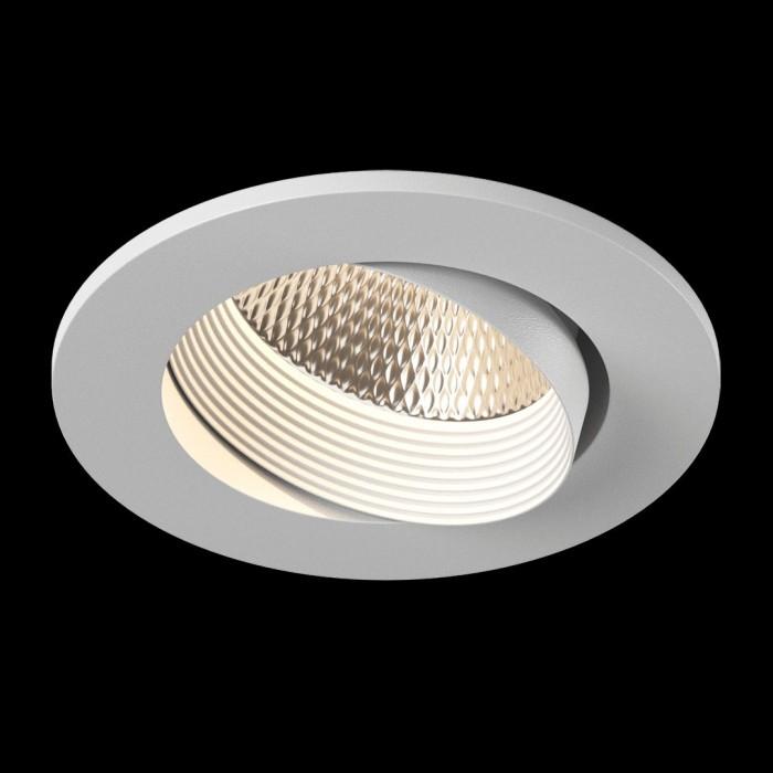 2Светильник светодиодный потолочный встраиваемый наклонный, серия DL-KZ, белый, 7Вт, IP20, Нейтральный белый (4000К)