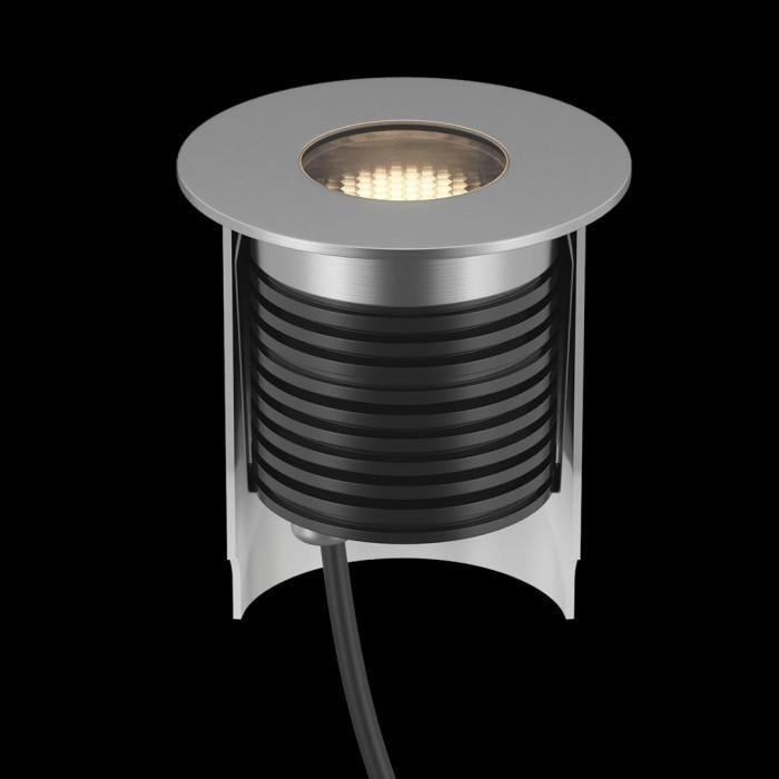 2Светильник ландшафтный встраиваемый, серия AL, серебряный, 7Вт, IP67, Нейтральный белый (4000К)