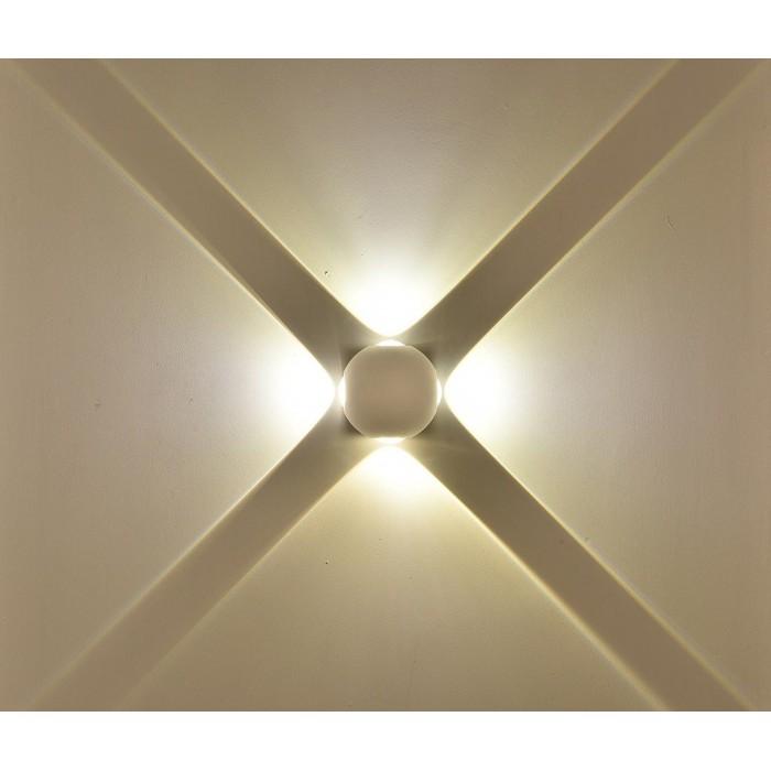 2Настенный светильник SFERA-DBL, белый, 4Вт, 3000K, IP54, GW-A161-4-4-WH-WW