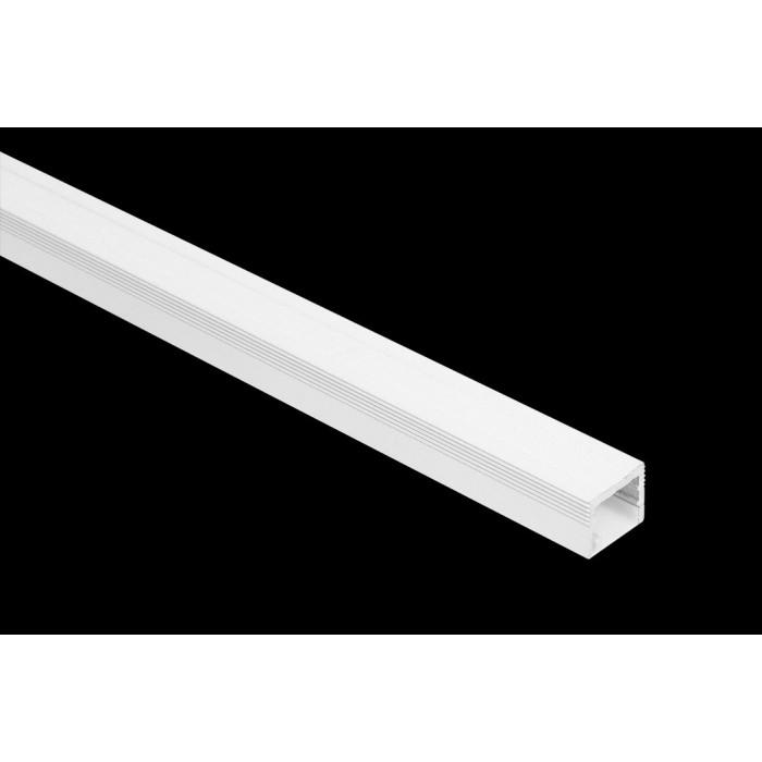 2Накладной алюминиевый профиль LS.1613 белый, для однорядной ленты