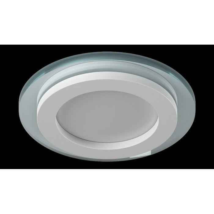1Светильник светодиодный потолочный встраиваемый P, Белый, Сталь/Стекло, Нейтральный белый (4000-4500K), 6Вт
