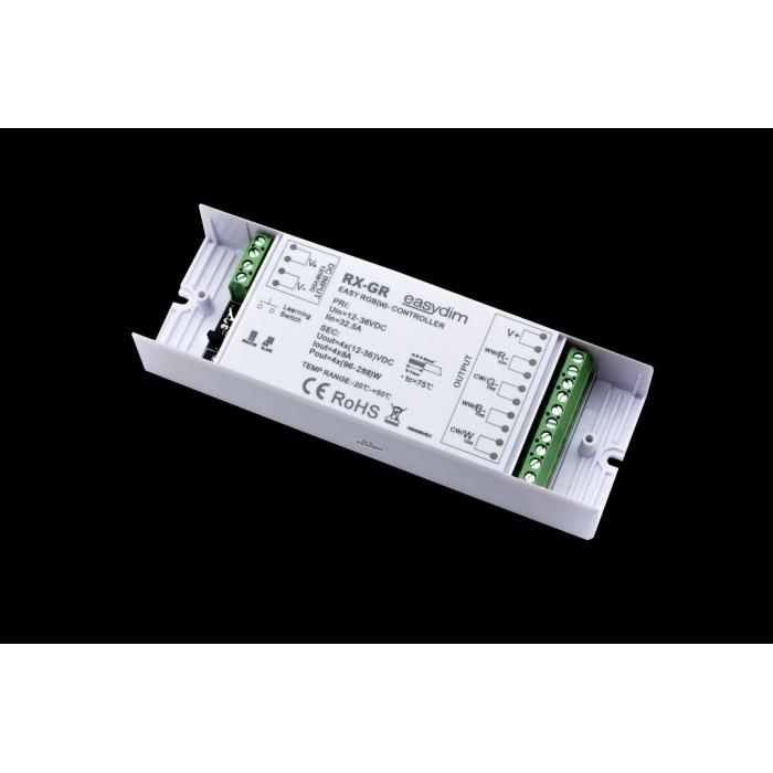 1Универсальный приемник-контроллер увеличенной мощности RX-GR для светодиодных лент RGB, RGB+W, MIX