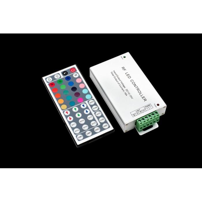 1LED MIX RGB контроллер 18А 12-24 Вольт, РФ 44 кн, RF-RGB-44-18A