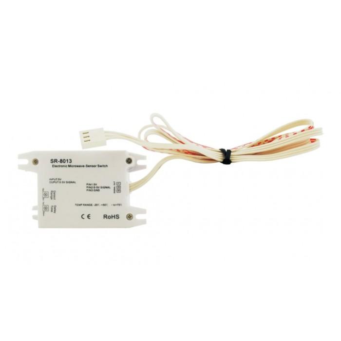 2SR-8003 DC Датчик движения MicroWave. Регуллировка задержки до 10 мин и зоны до 20м. 12-36В