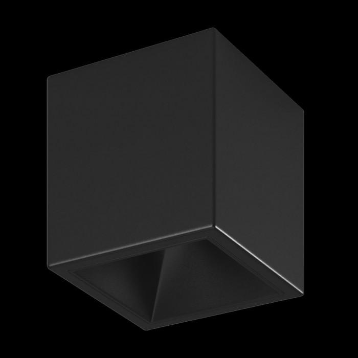 1Светильник светодиодный потолочный накладной, серия DL-SPL, черный, 18Вт, IP20, Теплый белый (3000К)