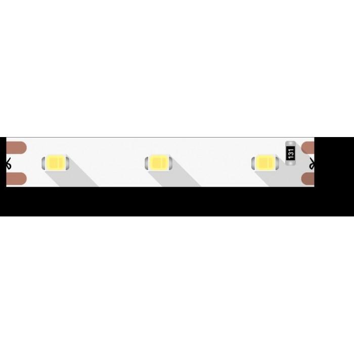 1Лента светодиодная эконом 2835, 60 LED/м, 4,8 Вт/м, 12В, IP20, Цвет: Теплый белый