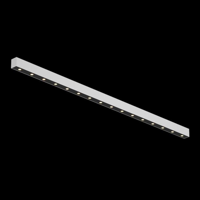 1Светильник светодиодный потолочный накладной, серия FA, черно-белый, 20,5Вт, IP20, Теплый белый (3000К)