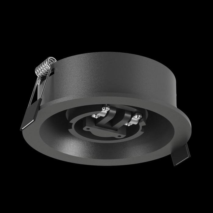 1Крепление сменное М7 для светильников MINI VILLY, поворотное встраиваемое углубленное, цвет черный