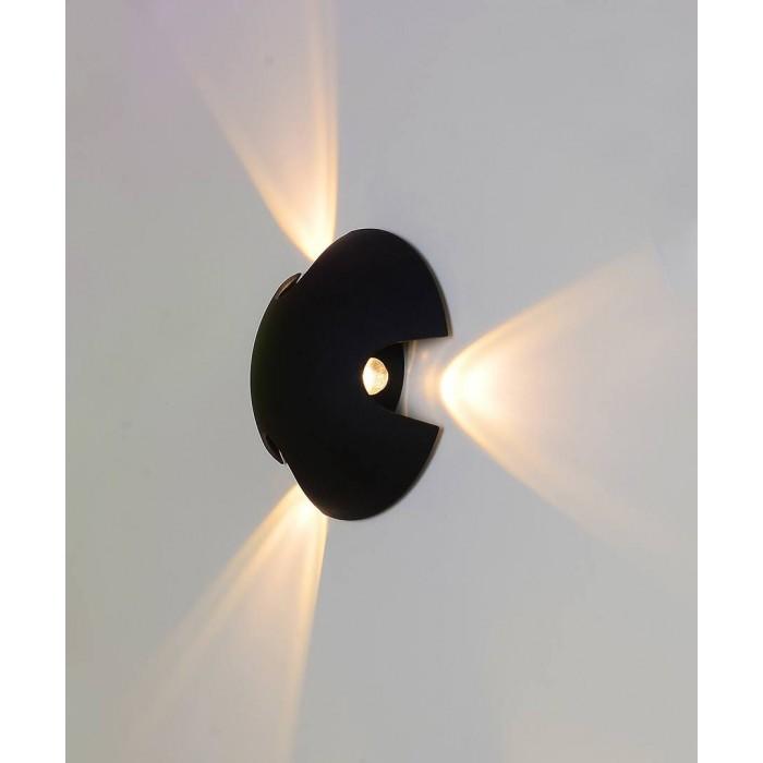 1Настенный светильник BRAND, черный, 3*3Вт, 3000K, IP54, LWA0121C-BL-WW