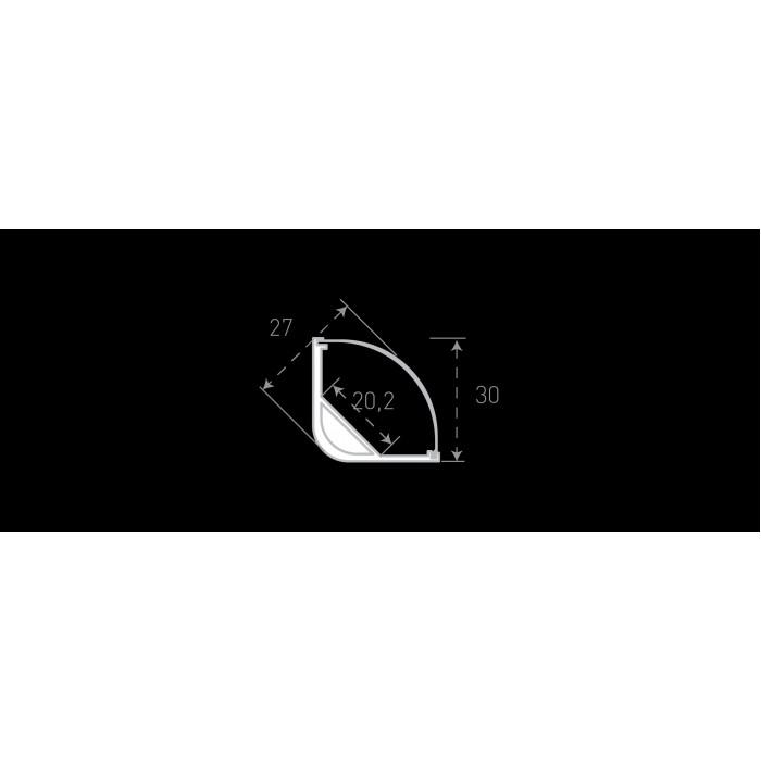 2Алюминиевый профиль накладной угловой BEST SF-3030